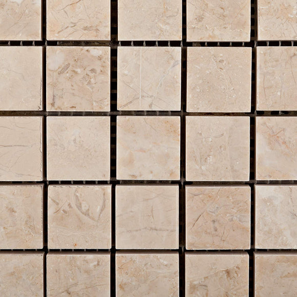 Bursa Beige / Sandy Beige Marble 1 X 1 Polished Mosaic Tile - 6