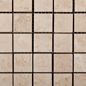 Bursa Beige / Sandy Beige Marble 1 X 1 Polished Mosaic Tile - Lot of 50 Sheets