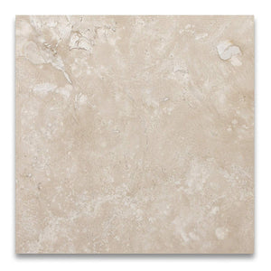 Durango Cream Travertine 18 X 18 Filled and Honed Tile