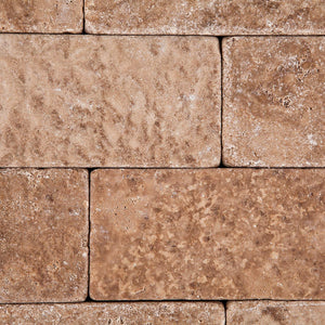 Andean Walnut Peruvian Travertine 3 X 6 Field Tile, Tumbled - Lot of 50 sq. ft.