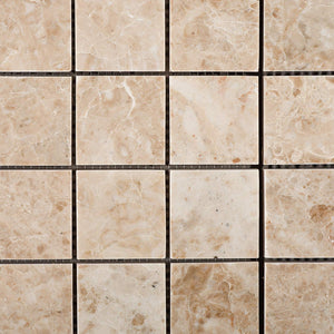 Cappuccino Marble 2 X 2 Polished Mosaic Tile - Box of 5 Sheets
