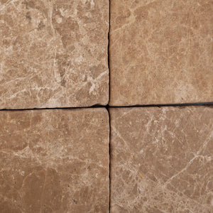 Emperador Light (Cedar) Marble 6 X 6 Tumbled Field Tile - Lot of 50 sq. ft.
