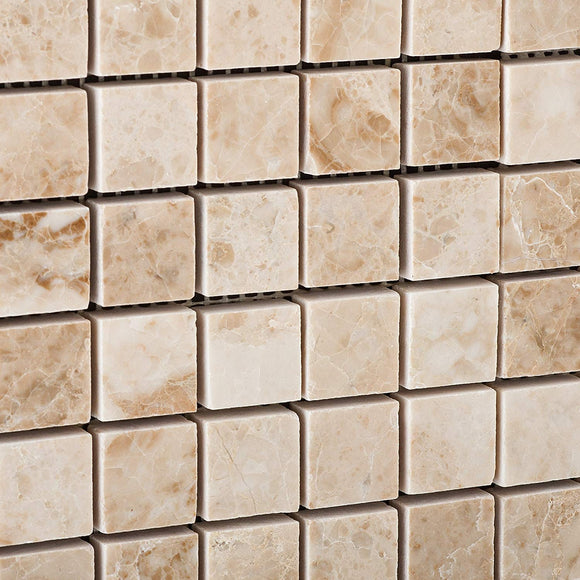 Cappuccino 1X1 Marble Polished Mosaic Tile - 6 X 6 Sample