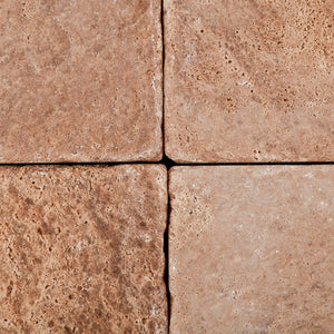 Andean Walnut Peruvian Travertine 6 X 6 Tumbled Field Tile - Box of 5 sq. ft.