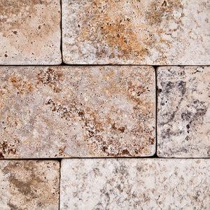 Crema Marfil Marble 2 X 4 Brick Mosaic Tile, Polished & Beveled - Lot of 50 sq. ft.