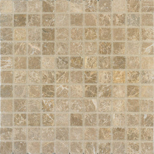 Arizona Tile 12 by 12-Inch Mosaic made from 1 by 1-Inch Tumbled Marble Tiles, Emperador Light, 10-Pack