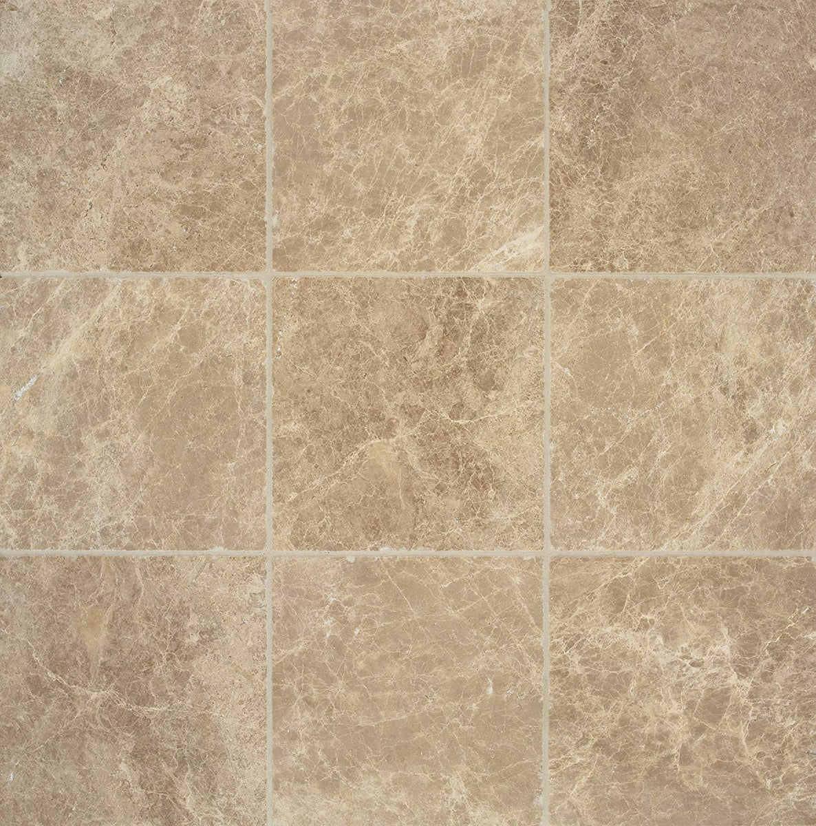 Arizona Tile 4 by 4-Inch Tumbled Marble Tile, Emperador Light, 10-Total  Square Feet