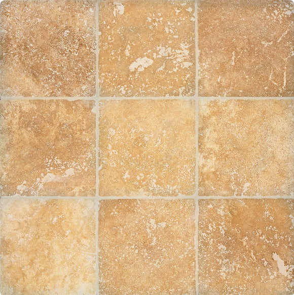 Arizona Tile 4 by 4-Inch Tumbled Travertine Tile, Alexandria, 5-Total Square Feet