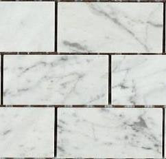 "Carrara (Carrera) Bianco Honed 2x4"" Mosaic Tile (SAMPLE)"