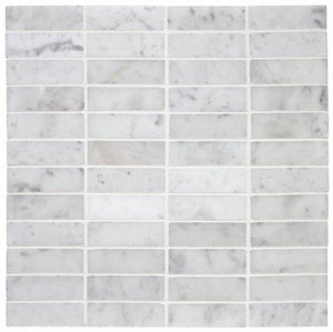 Carrara (Carrera) Bianco Honed 3x6 Subway Mosaic Tile
