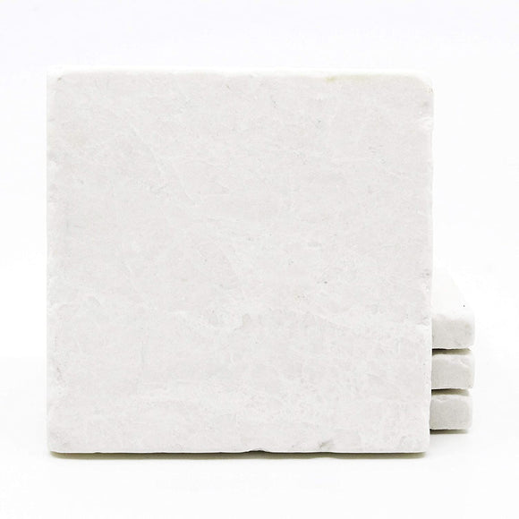 Botticino Marble (Turkish Crema Marfil) 6 X 6 Tumbled Marble Floor Tile - 5 sq.ft. (20 pcs.)
