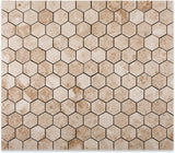 Cappuccino Marble Polished 2-inch Hexagon Mosaic Tile - Box of 5 sq. ft.