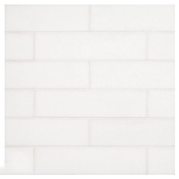 Tilefornia Thassos White 2x8 Subway Tile