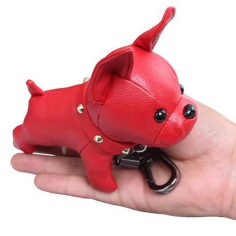 Bulldog Leather Keychain by my urban shop