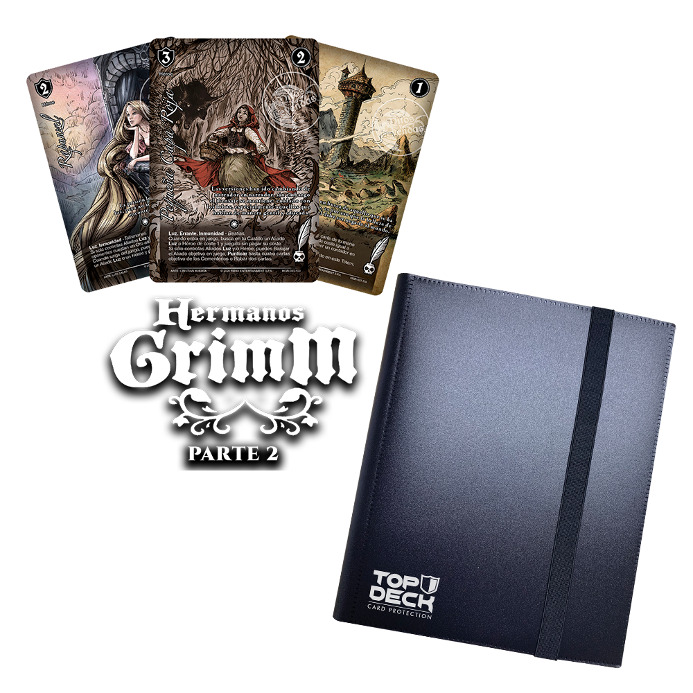 Pack Hermanos Grimm - Parte 2 + Carpeta Top Deck 9 bolsillos.