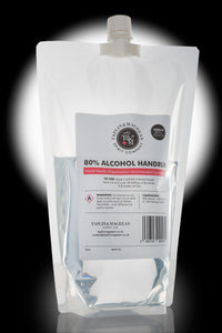 80% Alcohol Hand Rub - 1000ml Refill Pouch