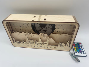 Edinburgh Skyline Shadow Box