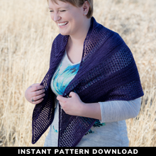 Load image into Gallery viewer, Ascent Shawl {Light} : Pattern Download