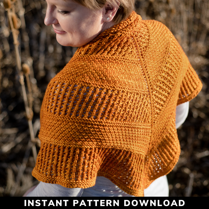Ascent Shawl {Worsted} : Pattern Download