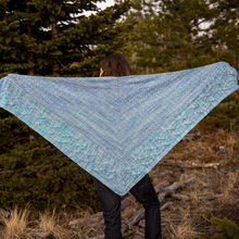 Load image into Gallery viewer, Mountain Snowmelt Shawl : Pattern Download