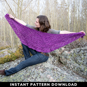 Wildfire Blaze Shawl : Pattern Download