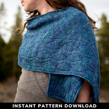 Load image into Gallery viewer, Windswept Skies Shawl : Pattern Download