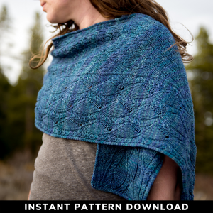 Windswept Skies Shawl : Pattern Download