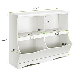 White Toy Bookcase Organizer Solid