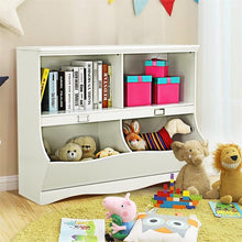 Load image into Gallery viewer, White Toy Bookcase Organizer Solid
