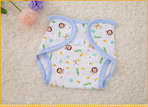 Newborn Cotton Diaper Pants Baby Training Diaper Repeated Washing Adjustable Breathable Diaper Cover Mama's Helper