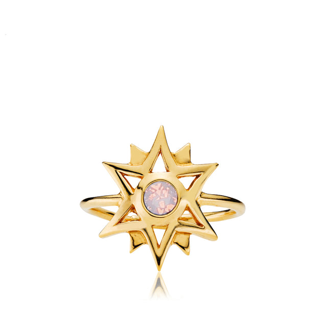 Olivia by Sistie - Ring guld & opal rosa