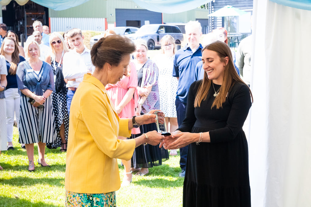 HRH The Princess Royal presenting an award to our stuff