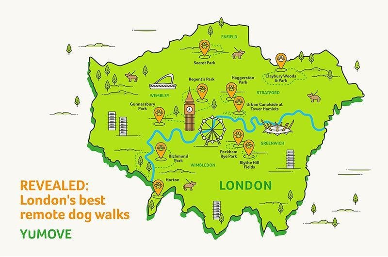 London's remote walking spots mapped