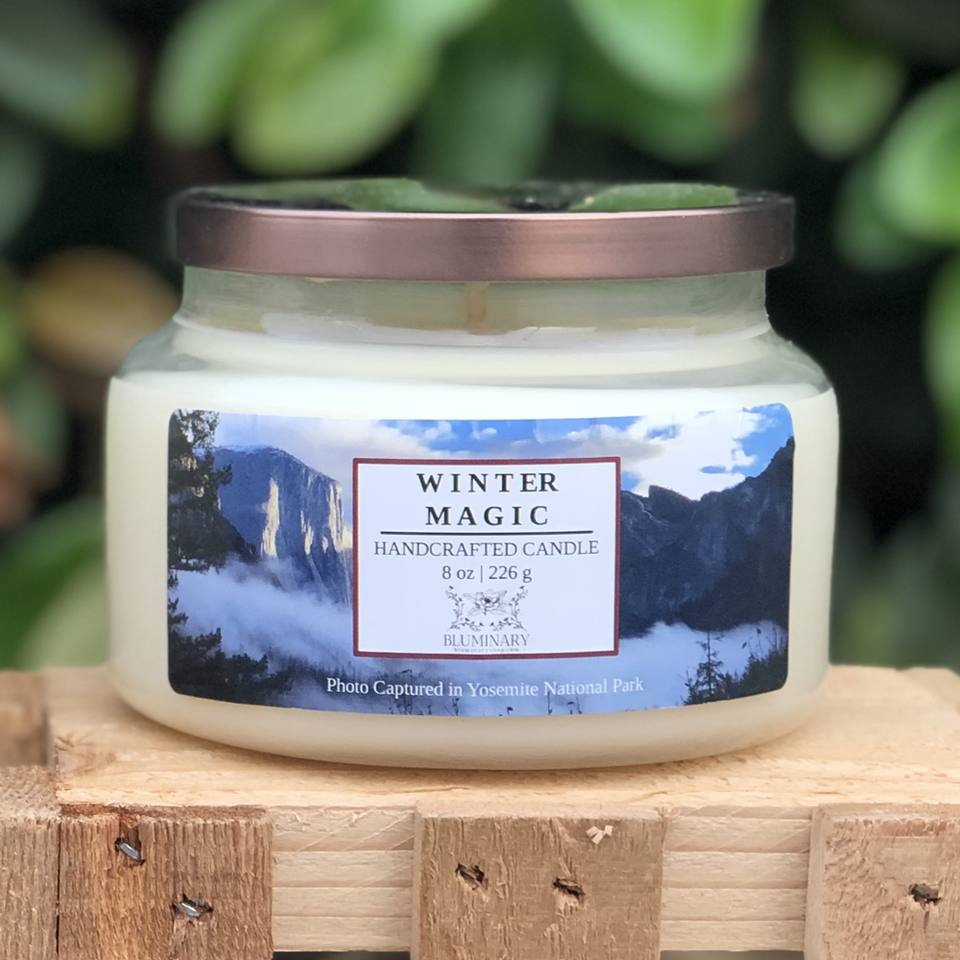 Winter Magic Holiday Winter Candle
