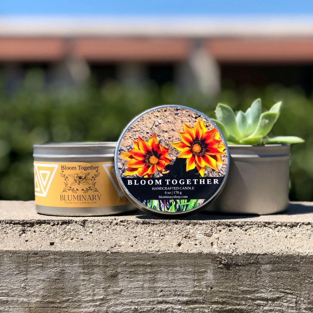 Bloom Together Candle with plants - Funds donated to ACLU