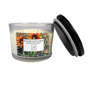 Bloom Together Candle - Funds donated to ACLU 10 oz lid off