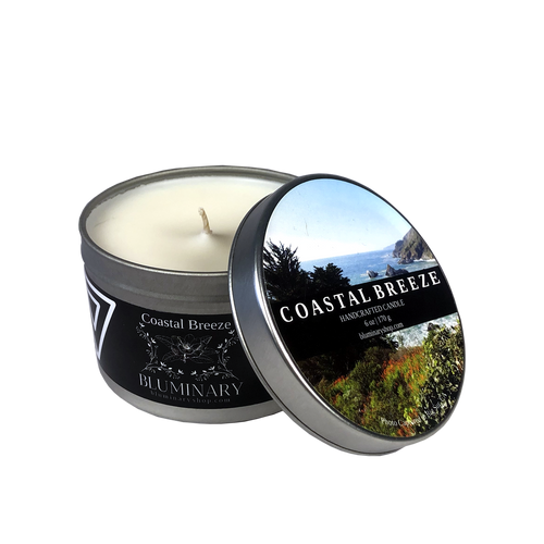 Coastal Breeze 6 oz tin candle - Big Sur, CA