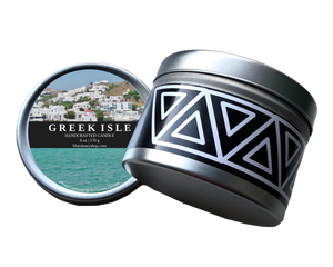 Greek Isle Mykonos Candle 6 oz tin product shot