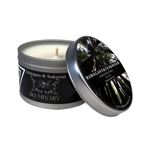 Mahogany & Teakwood product shot mens candle 6 oz tin