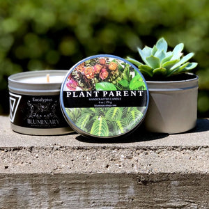 Proud Plant Parent custom candle scent product shot