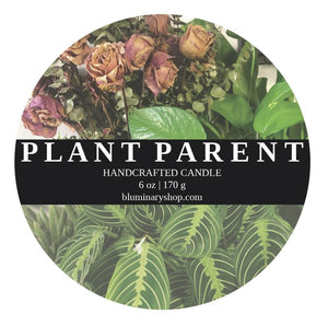 Plant Parent Candle - Custom Scent label