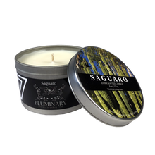 Load image into Gallery viewer, Saguaro Candle candle tin 8 oz product shot Baja Mexico