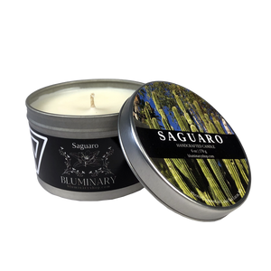 Saguaro Candle candle tin 8 oz product shot Baja Mexico
