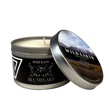 Load image into Gallery viewer, Wild Earth candle product shot 6 oz tin Lone Pine Alabama Hills CA