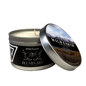Wild Earth candle product shot 6 oz tin Lone Pine Alabama Hills CA