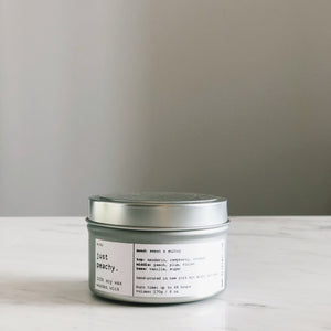 JUST PEACHY | 100% SOY TRAVEL SIZE CANDLE