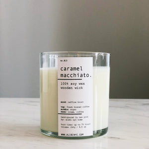 CARAMEL MACCHIATO | 100% SOY WOODEN WICK CANDLE