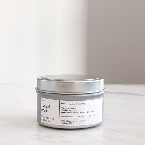SANDALWOOD | 100% SOY TRAVEL SIZE CANDLE