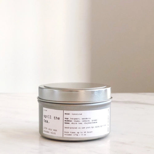SPILL THE TEA | 100% SOY TRAVEL SIZE CANDLE