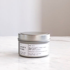 CANNABIS & HEMP | 100% SOY TRAVEL SIZE CANDLE